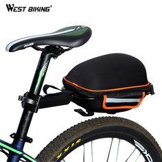 OVEST BIKE BIKE Bag Posteriore Riflettente Impermeabile di Copertura Della Pioggia Portatile Bici Da Strada di Montagna Ciclismo Coda Che Si Estende Sacchetto Della Sella Della Bicicletta