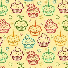 Cupcakes fabric by oksancia on Spoonflower - custom fabric