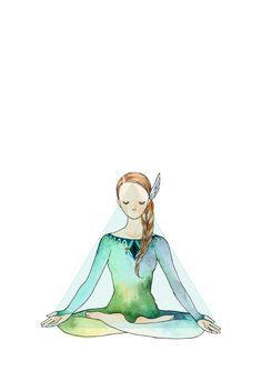 Padma Asana / Yoga illustration series by Minne.