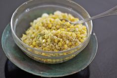 Corn Quinoa with Scallions and Basil