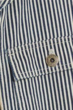 Chloé - Open-back Striped Cotton Jumpsuit - Navy - FR44