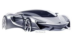 McLaren Design Sketch by Rob Melville - Car Body Design Car Design Sketch, Car Sketch, Anime Sketch, Supercars, Mexico 2018, Industrial Design Sketch, Cool Sports Cars, Car Drawings, Transportation Design
