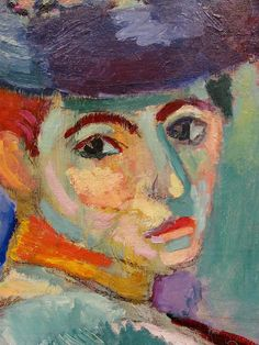 One of my favourite paintings. Woman with a Hat (La femme au chapeau) detail. Henri Matisse. 1905.