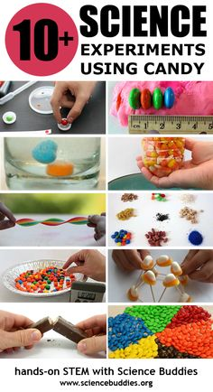 Great ideas for candy-based #STEM exploration for K-12 students. [Science Buddies, http://www.sciencebuddies.org/blog/2016/02/valentines-day-candy-science.php?from=Pinterest] #valentine #candyscience #scienceproject #familyscience