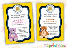 Build a bear party each invitation was delivered in a special way build a bear party each invitation was delivered in a special way using a build a bear gift bag childrens parties pinterest bears birthdays and filmwisefo Images