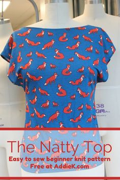 The Natty top is a quick top to sew up. It fits comfortably through the bust, nipping in at thewaist, and flattering the hips. It is great for beginners, as well as, advance sewers. There arean abundance of ways you can alter it to make a whole new look.This is truly a 1 hour or less top.