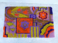 psychedelic neon rya rug