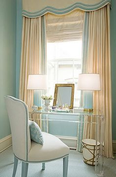 Love the look of this acrylic dressing table - so elegant.