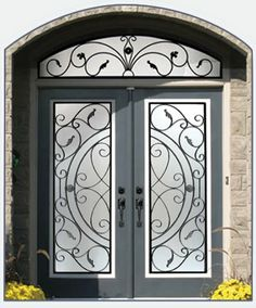 determined to have a wrought iron front door