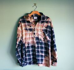 Bleached ombre tie dye flannel from etsy!!!! Oh my gosh!! I love etsy more every day:)