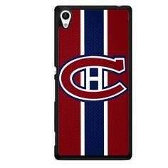 Montreal Canadiens Logo Carbon TATUM-7412 Sony Phonecase Cover For Xperia Z1, Xperia Z2, Xperia Z3, Xperia Z4, Xperia Z5