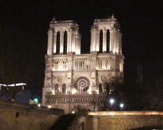 Paris, France - Notre-Dame at night, view from the river