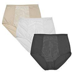 9089bc7e63f8 BeautyLean Women's Shapewear Panties Smoothing Microfiber Tummy Medium  Control Modern Shaping Brief Pack of 3