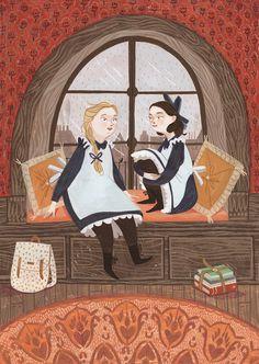 Illustration Rebecca Green «A Princesinha» by Frances Hodgson Burnett Publishing House, Brazil. CHAPTER 3
