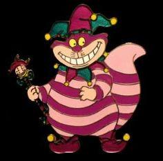 Cheshire Cat Mardi Gras pin