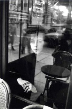 [The Girl in the Window]  1930 paris. Paris street photography, urban street photography, street photography people, street photography cafe.