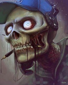 Dark art: Cool Skeleton