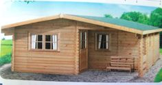 Garden Log Cabin-Multi-Room-Granny Flat/Studio - Ref DJ84 6mx 6m - 44mm wall in Garden & Patio, Garden Structures & Shade, Log Cabins | eBay