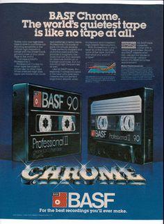 1981 BASF Professional Chrome 90 blank cassettes