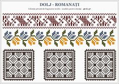 Semne Cusute: Romanian traditional motifs; southwest, OLTENIA, Dolj-Romanati