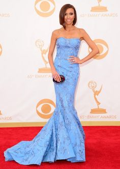 Red carpet arrivals at the 65th Annual Primetime Emmy Awards at the Nokia Theater in Los Angeles on September 22, 2013. Pictured: Giuliana Rancic.