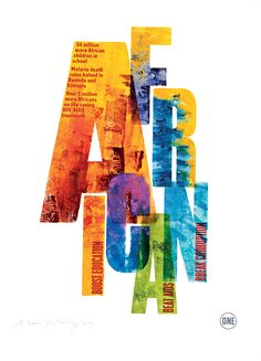 One Charity Poster African - Alan Kitching - Debut Art