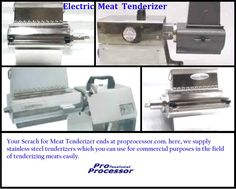 Pro Processor supplies stainless steel tenderizers which you can use for commercial purposes in the field of tenderizing meats easily.