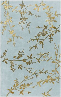 """""""Spa"""" blue rug with branches"""