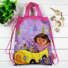 1 pieces / los Dora Kids Cartoon Drawstring Trainers for Girls, Kids Birthday Party Favor, Mochila School Kids Backpack4545 #CLICK! #clothing, #shoes, #jewelry, #women, #men, #hats