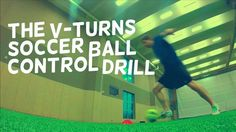 Turn Faster, Beat Defenders, and Practice your ball control with the V-Turn Soccer Drill!