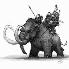 "1,102 Me gusta, 12 comentarios - Shaun Keenan (@shaunmichaelkeenan) en Instagram: ""Some Mammoth riders for this Sunday's drawing. #woolymammoth #mammoth #conceptart #digitalart…"""