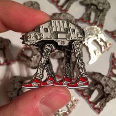 Star Wars AT-AT x Nike Pin Badge by ThumbsDesign $15 | Etsy
