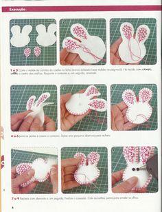 Moldes Para Artesanato em Tecido: Guirlanda de Pascoa com molde