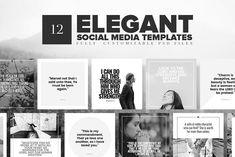 Elegant Social Media Templates by Church Resources Depot on @creativemarket #socialmedia #socialmediamarketing #posts #instagram #design #creative #influencer #photoshop #stylish #modern #marketing #template #stories #fashion