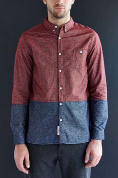 Native Youth Colorblock Flannel Button-Down Shirt