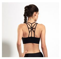 8d4adb35e76c3 Back Strappy Fitness Sport Bra Women Shockproof Breathable Running Yoga Bras  Tank Tops-GoAmiroo Store