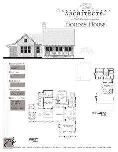 Allison Ramsey Architects + Carolina Inspirations {2512 Heated Square Feet, 3 Bedrooms and 2 Bathrooms}