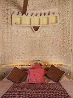 Lippan-kam or mud mirror work of Gujarat
