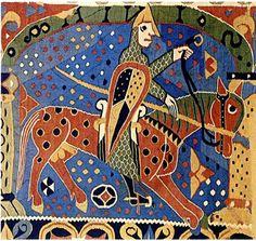 Antes de la eclosión en los siglos XIV y XV de talleres de tapices  en gran parte de la cristiandad, sobre todo en el noroeste de Europa, estos materiales y técnicas artísticas que los convierten en obras de arte son especialmente  representativos del arte de la periferia septentrional de la Alta Edad Media,La Edad Media anglonormada produjo la más excepcional de estas obras, el bordado mal llmado <<tapiz de la reina Matilde>> que adornaba las paredes de la catedral de Bayeux.