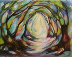 "Charlotte Hutson Wrenn; Acrylic, 2012, Painting ""Spring Portal"""