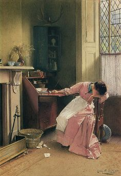 "Carlton Alfred Smith (British, 1853-1946), ""Recalling the Past"", 1888"