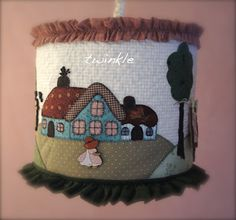 Pretty patchwork lamp