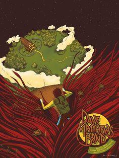 2013 Dave Matthews Band - Charlotte Silkscreen Concert Poster by James Flames
