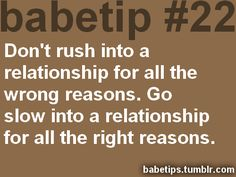 tips on how to take a relationship slow