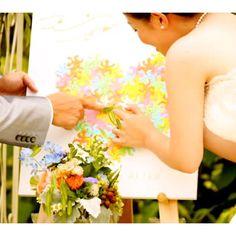 ゲストの前で夫婦の誓い♡人前式で作りたい『結婚証明書』のユニークなアイデア15選*にて紹介している画像