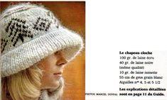 Le très célèbre numéro 1 de décembre 1972 était particulièrement riche en modèles. J'en ai tiré ce chapeau-cloche : La réalisation semble être de Franka De Mailly, Michèle Serres ou Betty Mertens. Je ne peux pas le savoir, car le magazine n'était pas...