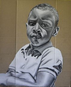 portrait drawing on cardboard Pencil Art, My Childhood, Africa, Portrait, Drawings, Fictional Characters, Sketches, Headshot Photography, Sketch