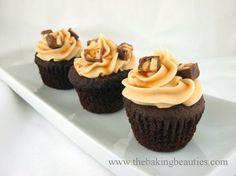 Gluten-free Snickers cupcakes from Faithfully Gluten Free