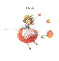 Heidi character / © Kim Minji - illustrator