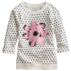 SONOMA life + style Sequin Flower French Terry Sweatshirt - Girls 4-7